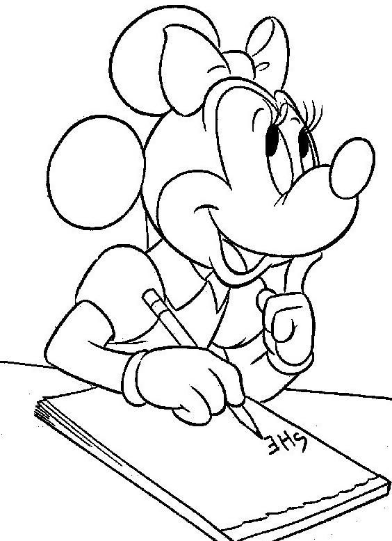 Minnie da colorare 5