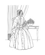 Donna antica da colorare 4