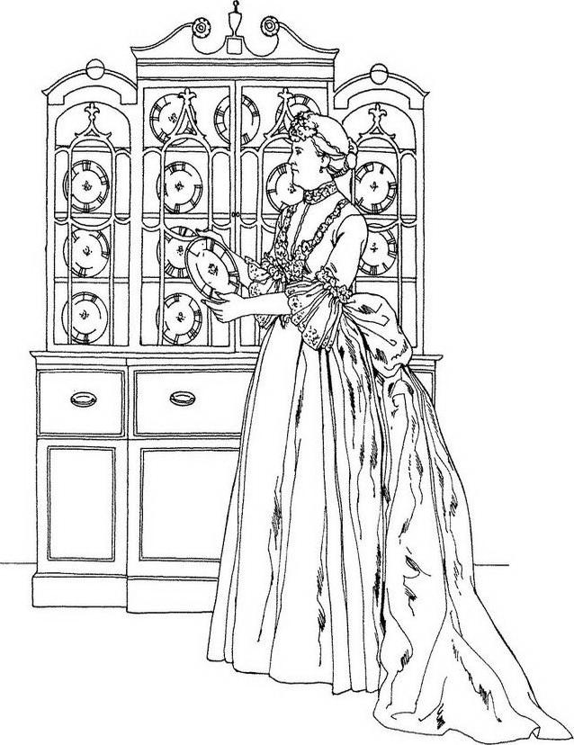 Donna antica da colorare 12