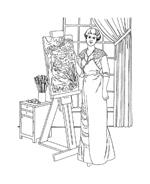Donna antica da colorare 16