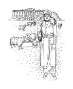 Donna antica da colorare 17