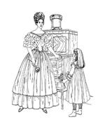 Donna antica da colorare 37