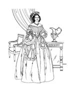 Donna antica da colorare 38