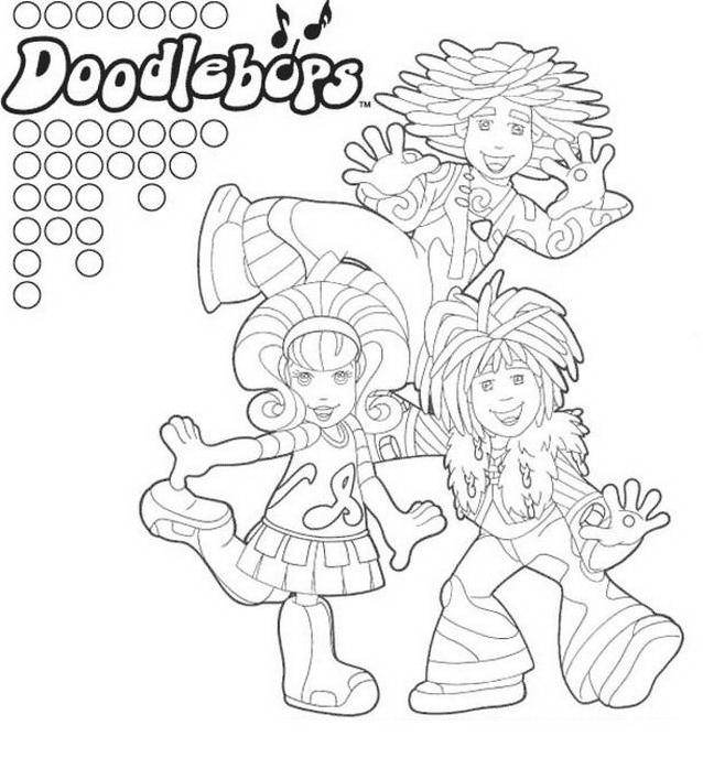 Doodlebops da colorare 8