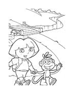 Dora l'esploratrice da colorare 12