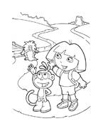 Dora l'esploratrice da colorare 14