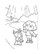 Dora l'esploratrice da colorare 17