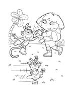 Dora l'esploratrice da colorare 72