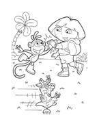 Dora l'esploratrice da colorare 73