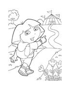 Dora l'esploratrice da colorare 74