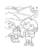 Dora l'esploratrice da colorare 167