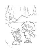 Dora l'esploratrice da colorare 171