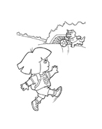 Dora l'esploratrice da colorare 229