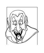 Vampiro da colorare 3