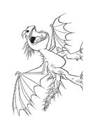 Dragon trainer da colorare 2