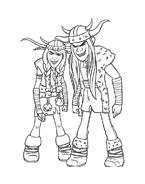 Dragon trainer da colorare 9