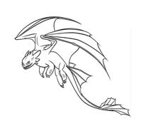 Dragon trainer da colorare 30
