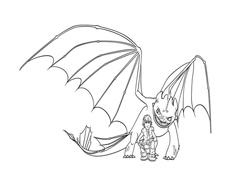 Dragon trainer da colorare 34