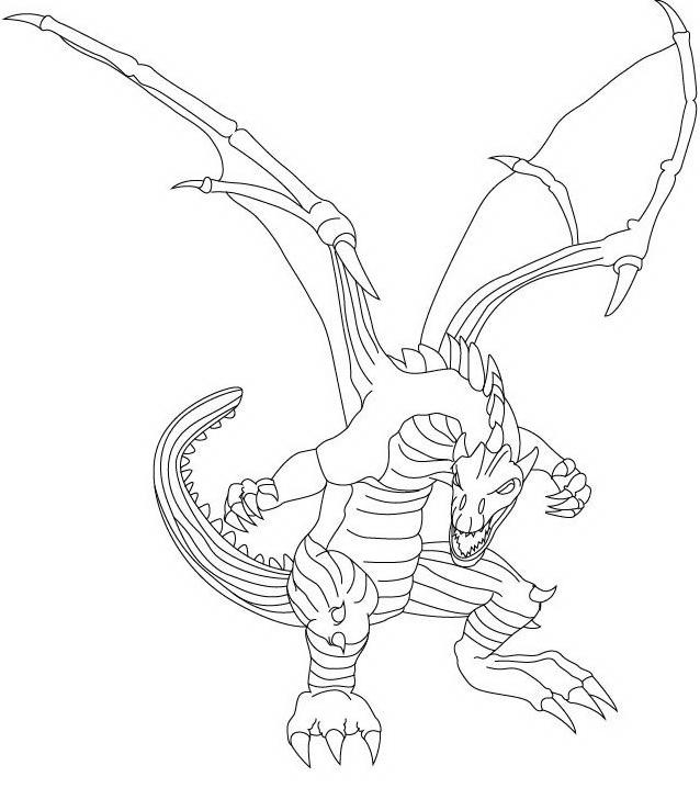 Dragonix da colorare 7