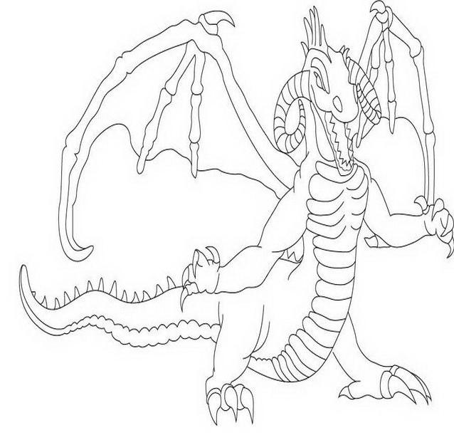 Dragonix da colorare 13