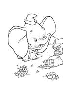 Dumbo da colorare