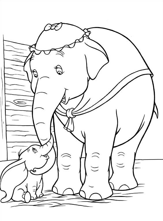 Dumbo da colorare 2