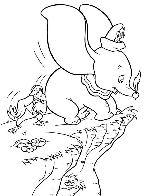 Dumbo da colorare 3