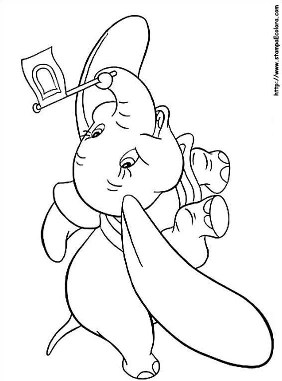 Dumbo da colorare 11