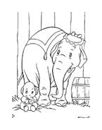 Dumbo da colorare 12