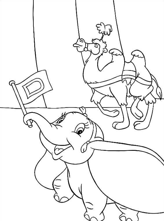 Dumbo da colorare 14