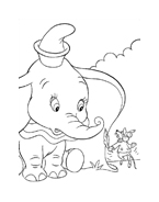 Dumbo da colorare 18