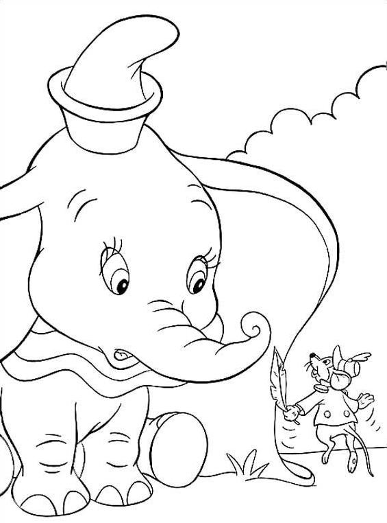 Dumbo da colorare 18