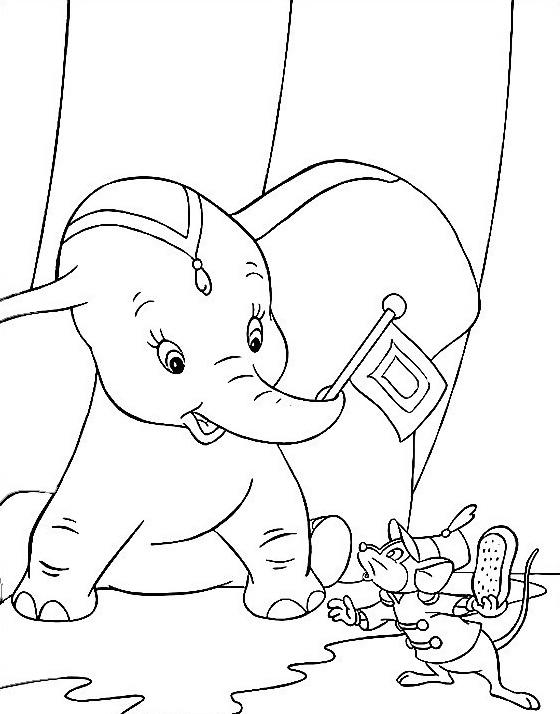 Dumbo da colorare 26