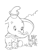 Dumbo da colorare 41