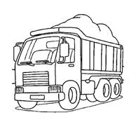 Camion da colorare 92