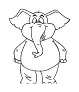 Elefante da colorare 5
