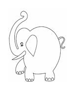 Elefante da colorare 7