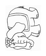 Elefante da colorare 10