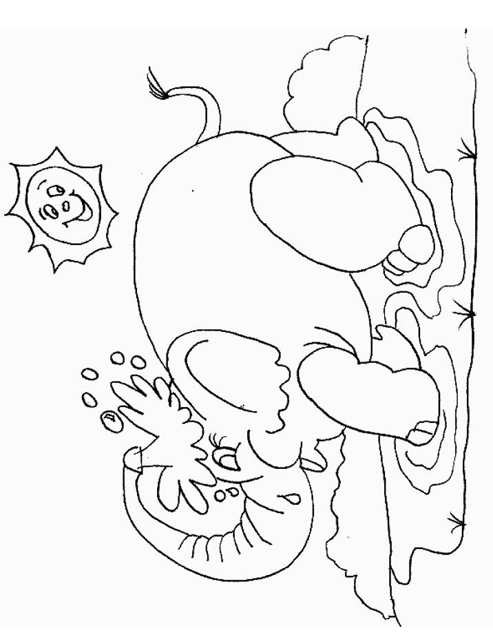 Elefante da colorare 11
