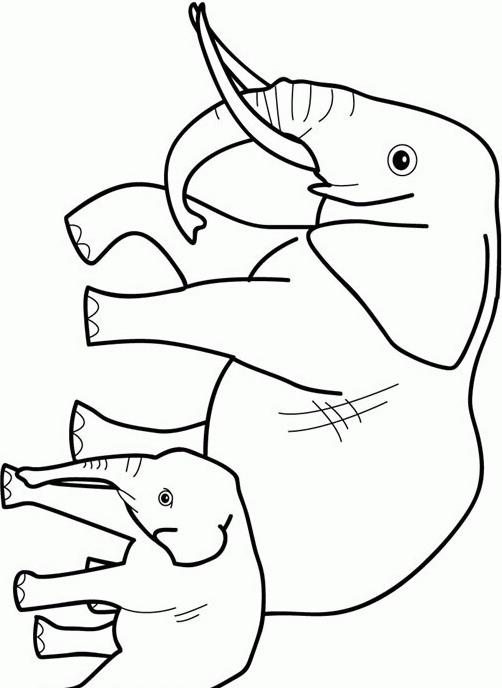Elefante da colorare 19