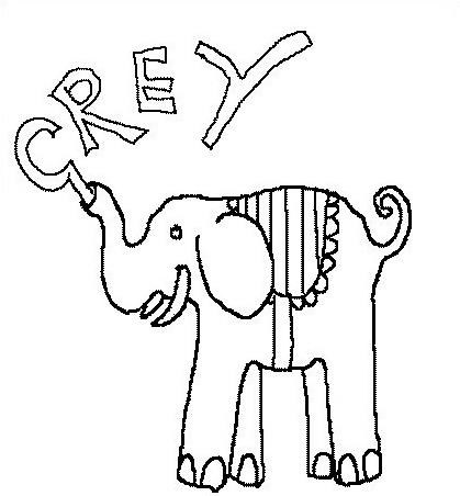 Elefante da colorare 25