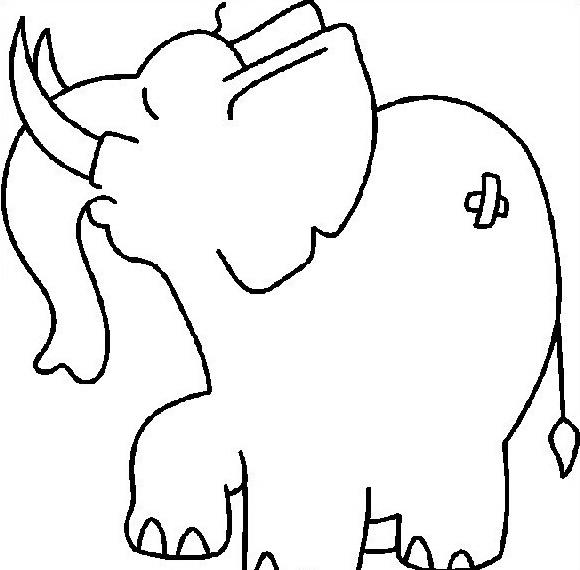 Elefante da colorare 26
