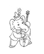 Elefante da colorare 27