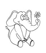 Elefante da colorare 29