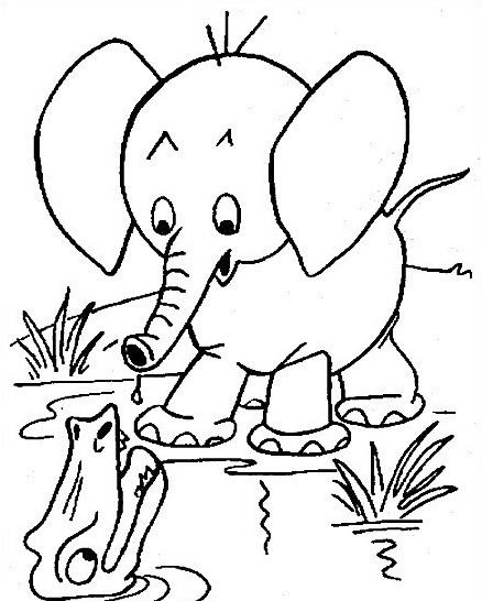 Elefante da colorare 30
