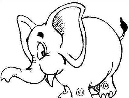 Elefante da colorare 31
