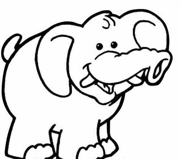 Elefante da colorare 32