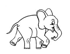 Elefante da colorare 33