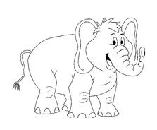 Elefante da colorare 35