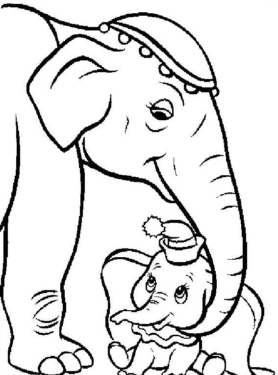 Elefante da colorare 38